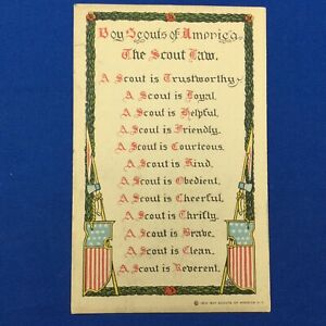 Boy Scouts Of America The Scout Law Vintage Post Card C1913