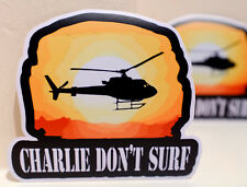 """#3445 Charlie Don't Surf Movie Retro Apocalypse Now Helicopter 4"""" Decal Sticker"""