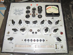 HICKOK MODEL 533 TUBE TESTER - SERVICED AND RESTORED - WORKS VERY WELL