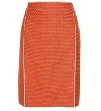 NWT - BOTTEGA VENETA - Burnt Orange Mohair & Cotton SKIRT - Italy 42