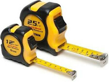 Titan 2 Piece Combo Dual Rule Tape Measure Set Dual-Rule Standard & Metric Scale