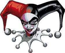 57009 Harley Quinn Batman Jester HUGE Large Back Patch Embroidered Iron On Patch