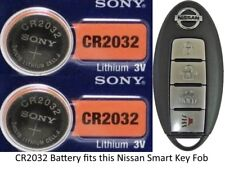 Nissan Remote Key Fob Replacement Battery for Smart Key - CR2032 - 2 Pack