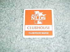 2013 NLDS Playoff Baseball Clubhouse Badge Los Angeles Dodgers Atlanta Braves