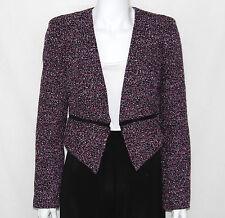 Calvin Klein NEW Tweed Zipper Blazer PETITE 6