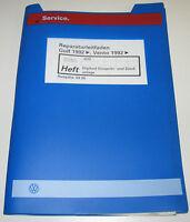Werkstatthandbuch VW Golf 3 III Typ 1H / Vento Digifant Einspritz Anlage ADD