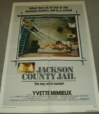 "AUTHENTIC/ORIGINAL MOVIE POSTER FROM 1976, ""JACKSON COUNTY JAIL""."