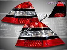 00-05 MERCEDES BENZ W220 S CLASS CLEAR TAIL LIGHTS LED S430 S500 W/ BLACK TRIM