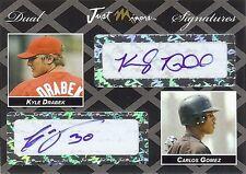 KYLE DRABEK - CARLOS GOMEZ 2006 Certified Dual Autograph RC 1/2