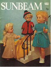 """VINTAGE KNITTING PATTERN COPY - TO KNIT OUTFITS FOR 16-18"""" & 20-22"""" DOLLS"""