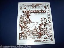 Cal 50 Caliber Fifty Romstar Video Arcade Game Operators Service Repair Manual