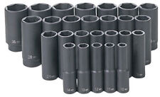 "Grey Pneumatic 1326MD 26 pc 1/2"" Dr Metric Deep Socket"
