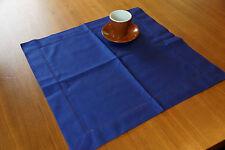 Halbleinen Tischdecke dunkelblau 50 x 50  Gastronomie Home Deko Tischwäsche OVP