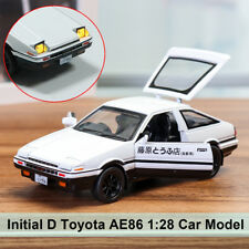 Initial D Metal For Toyota AE86 1:28 Car Model Toy Kids Gifts With Sound & Light