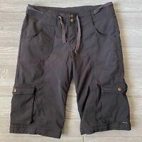 Prana cargo Bermuda linger Shorts Womens Size 8