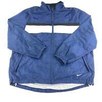 Vintage 90s Nike Jacket Mens XL Full Zip Embroidered Swoosh Windbreaker