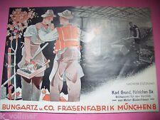 ✪ Prospekt Fräsen Bungartz u. Co Fräsenfabrik München 8 Motor Bodenfräsen Heft