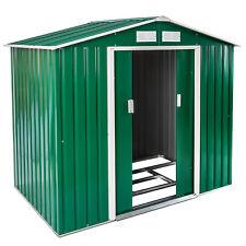 Box casetta metallo per giardino serra attrezzi capannone + fondazione 214x130 n