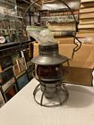 Vintage Erie Railroad Lantern Red Globe Dressel Arlington Mint