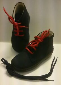 BABY Jungen Kinder Schuhe Herbst MADE IN ITALY Gr. 20 D.Blau Rot LEDER NEU