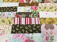 """""""Life is Like a Box of Chocolates"""" - Pre-cut QUILT KIT-99 pcs Pinks and Browns"""