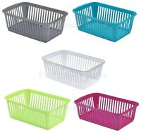 Plastic Storage Handi Basket Set Of 10 Small,Medium,Large Kitchen Office School