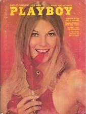 PLAYBOY MARCH 1971 Peggy Smith Cynthia Hall Dick Cavett Girls of Holland RCVR
