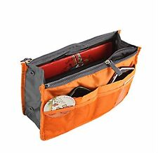 [USA SELLER] Orange Handbag Pouch Bag in Bag Organiser Insert Organizer