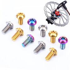 12Pcs Titanium Ti M5x10mm Screws Torx T25 bicycle Head Disc Brake Rotor Bolts