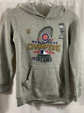 Chicago Cubs 2016 World Series Champs Hoodie Gray Youth Size Small Trophy