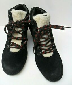 Clarks Marsden Grace New Black Suede Ankle Lace Up Boots - Size UK 4.5 - 6.5