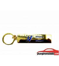 Porte clé plaque RENAULT CLIO WILLIAMS en métal couleur OR