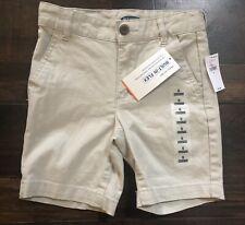 Nwt Old Navy Boys Size 5 Khaki Shorts Uniform School Tan Chino Dressy Preppy