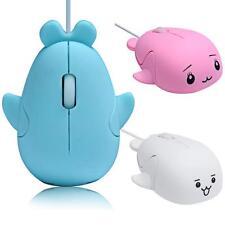 Nuevo Bonito Delfín 1200dpi Con Cable USB optico gaming ratones para Juego Ratón