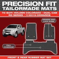 Holden Colorado Dual Cab NOV/2013-On Custom Moulded Rubber Black Car Floor Mats