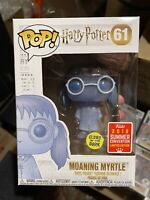 Funko POP! Harry Potter #61 Moaning Myrtle GITD 2018 SDCC Exclusive w/ Protector