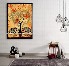 Elephant Tree of Life Tapestry Wall Hanging House Decorations Cotton Tapestries