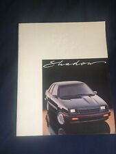 1985 Dodge Shadow Color Brochure Catalog Prospekt