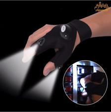 Guante de dedos con luz LED linterna herramientas pesca engranaje al aire libre