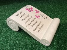 FRIEND BUTTERFLY, GRAVE MEMORIAL ORNAMENT, GRAVESIDE REMEMBRANCE TRIBUTE GIFT.