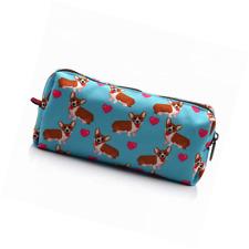 LParkin Corgi Dogs Students Super Large Capacity Canvas Pencil Case Pen Bag Pouc