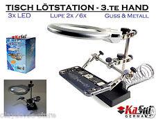 KaSul®Germany | KG-MG16129A Profi Lötstation LED Lupe 3.te Hand Löten Lupe Metal