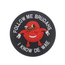 Mens Cool PVC Patch Follow Me Brudahs I Know De Wae Round Red 3D Morale Patches