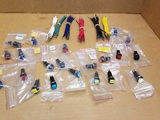 Lot 31 Pc Mixed Colors 12 v Momentary OFF-(ON) Square Push Button Switch NOS
