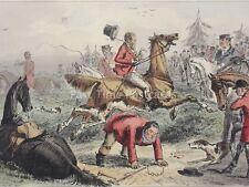 Hound & Fox Hunting SPONGE SCATTERS HIS LORDSHIP c1853 John Leech Cartoon Print