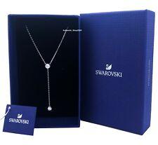 New Authentic Swarovski Rhodium Attract White Crystal Y Pendant Necklace 5367969