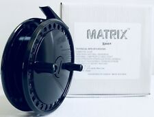 "RAVEN MATRIX 4 3/8"" CENTERPIN FLOAT REEL (BLACK), FREE RAVEN REEL POUCH *NEW*"