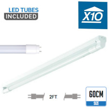 10 x 60cm led strip lighting fitting with tube fluorescent lamp replacement cool