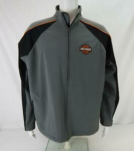 Harley-Davidson Screamin' Eagle Soft Shell Jacket Gray & Black Men's Large