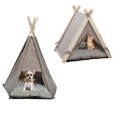 Vilobos Pet Teepee Tent Smal Dog Cat House Puppy Kitty Bed w/ Washable Cushion